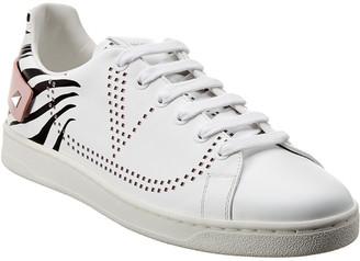 Valentino Vlogo Backnet Leather Sneaker