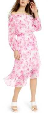 INC International Concepts Inc Floral Asymmetrical-Hem Dress, Created for Macy's