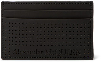 Alexander McQueen Perforated Leather Cardholder - Men - Black