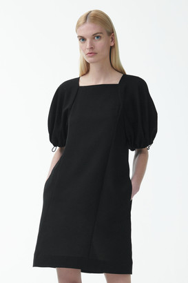 Cos A-Line Drawcord Puff Sleeve Dress