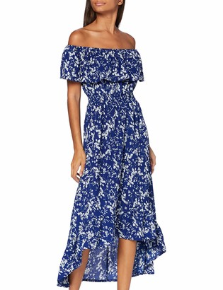 Yumi Women's Bardot High Low Maxi Dress Casual