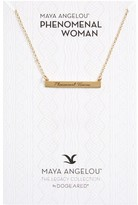 Dogeared Women's Legacy Collection - Phenomenal Women Bar Necklace