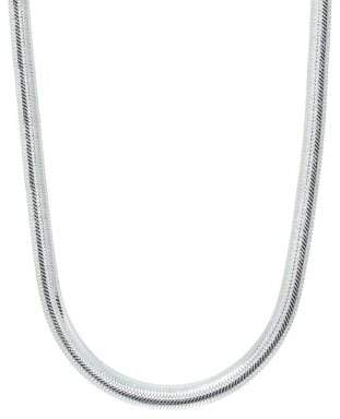 Lord & Taylor Banded Sterling Silver Chain Necklace