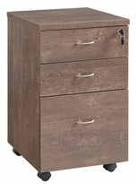 Wooden 3 Drawer Vertical Filing Cabinet Benjara Color: Walnut Oak Brown