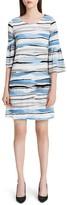 Calvin Klein Printed Bell-Sleeve Dress
