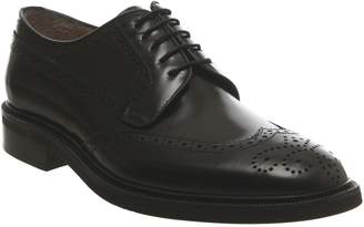 Poste Brogues Black Leather