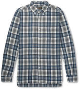 Beams Button-down Collar Checked Cotton-flannel Shirt - Gray