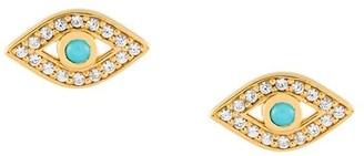 Astley Clarke 'Mini Evil Eye Biography' stud earrings