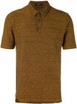 Roberto Collina ribbed knit polo shirt - men - Cotton/Linen/Flax/Polyester - 50