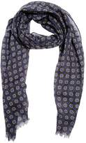 Lardini Allover Print Wool Gauze Knit Scarf