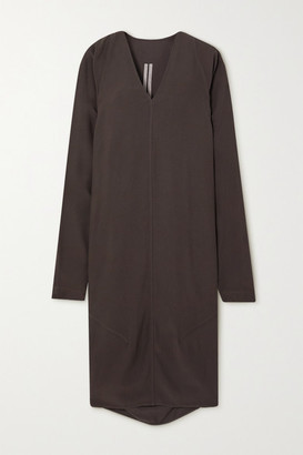 Rick Owens Abito Crepe Midi Dress - Dark brown