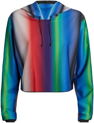 ULTRACOR Holographic Lynx Cropped Hoodie