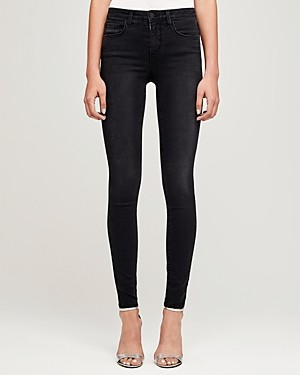 L'Agence Marguerite Skinny Jeans in Dark Graphite