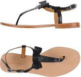 Mellow Yellow Toe strap sandals