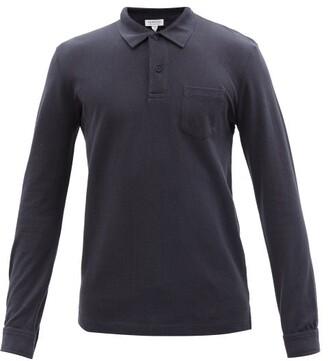 Sunspel Riviera Long-sleeved Cotton Polo Shirt - Mens - Navy