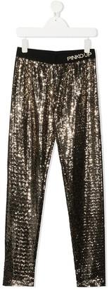 Pinko Kids TEEN sequin embellished leggings