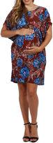 24/7 Comfort Apparel Ibiza Town Maternity Mini Dress