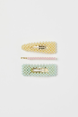 H&M 3-pack Beaded Hair Clips - Yellow