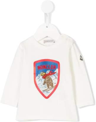 Moncler bear logo print top