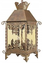 Markes 3 - Light Lantern Square Chandelier with Wrought Iron Accents Astoria Grand