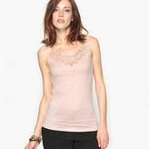 Anne Weyburn Soft and Comfortable Guipure Lace Vest Top