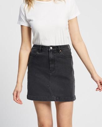 Lee Women's Black Denim skirts - Girlfriend Skirt - Size 7 at The Iconic