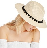 Sole Society Straw Panama Hat w/ Poms