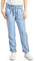 Gap Tencel® paperbag-waist pants
