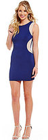 Jodi Kristopher Heat Stone Illusion Insets Sheath Dress
