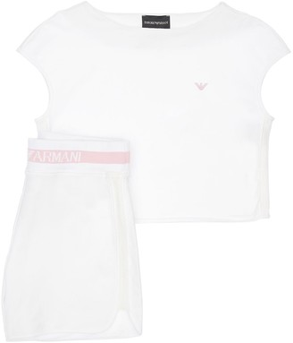 Emporio Armani Cotton T-shirt & Sweat Shorts