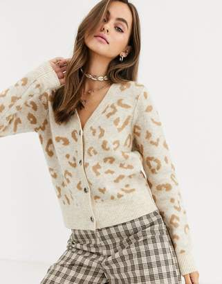 Abercrombie & Fitch leopard cardigan-Brown