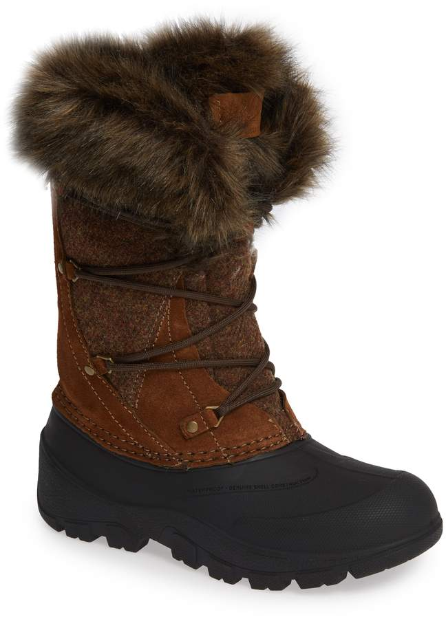 Woolrich Ice Cougar Waterproof Knee High Winter Boot with Faux Fur Trim