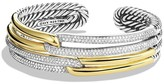 David Yurman Labyrinth Double-Loop Cuff with Diamonds & Gold