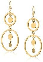 Jules Smith Designs Open Circle Disc Drop Earrings