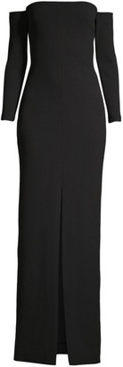 SOLACE London Odine Off-The-Shoulder Maxi Dress