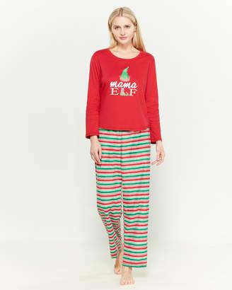 Karen Neuburger Two-Piece Mama Elf Pajama Set