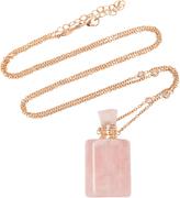 Jacquie Aiche Medium Rectangle Rose Quartz Potion Bottle Necklace