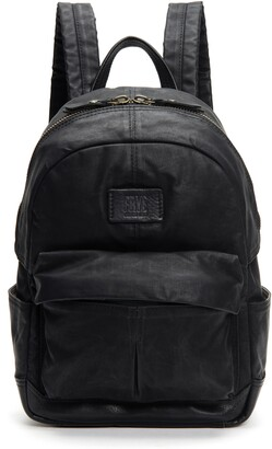 Frye Small Scout Canvas & Leather Backpack