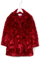 Simonetta textured faux fur coat