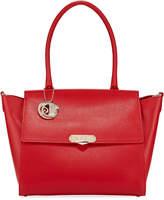 Versace Saffiano Large Top-Handle Crossbody Bag, Red
