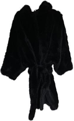Acne Studios Black Faux fur Coats