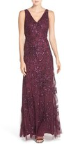 Adrianna Papell Women's Floral Embellished Mesh Gown