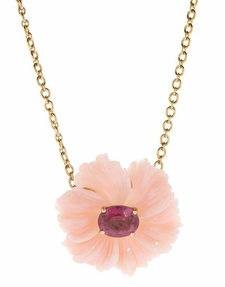 Irene Neuwirth Jewelry Pink Opal and Tourmaline Flower Necklace