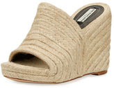 Balenciaga Braided Jute Wedge Sandal