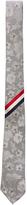 Thom Browne Floral Silk Jacquard Tie in Light grey