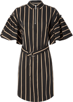 Lover Frame Stripe Shirt Dress