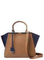 Fendi 3Jours Bicolor Leather Satchel