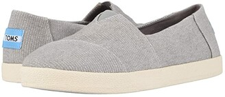 Toms Avalon (Black Coated Canvas) Women's Slip on Shoes
