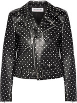Comme des Garcons Polka-dot Faux Leather Biker Jacket - Black