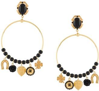 Dolce & Gabbana Pendant Hoop Earrings